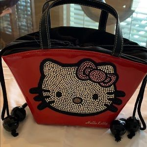 Hello kitty Swarovski crystal bag. Red patent.
